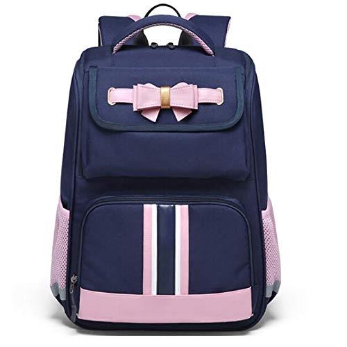 XJPGJL Fashion Backpack, Primary School Student School Bag Boys And Girls Children School Bag Burden Reduction Backpack Junior High School Students Leisure School Backpack, Pink,A