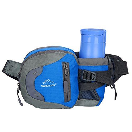 Gürteltasche Damen Herren Bauchtasche Multifunktionale Hüfttasche Wasserdicht Brusttasche Outdoor Sport Laufgürtel mit Flaschenhalter Bauchbeutel Verstellbar Gurttasche zum Wandern Reisen Radfahren