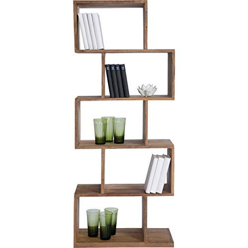 Kare Design Authentico Zick Zack Regal, Bücherreagl, CD-Regal, Küchenregal, Büroregal, (H/B/T) 150x60x30 cm