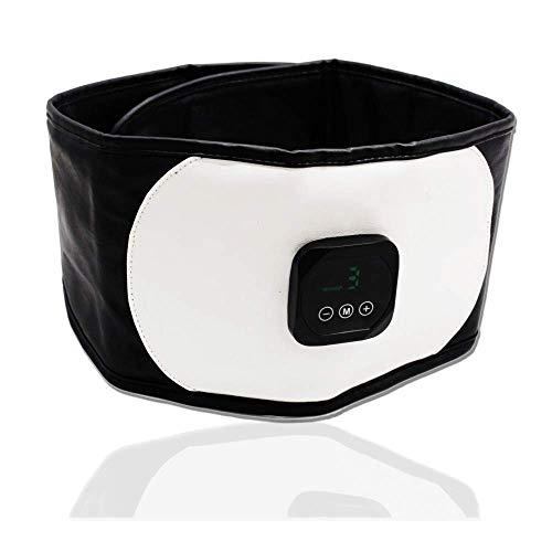 Cinturón Tonificador De Abdominales, Estimulación Avanzada del Músculo Abdominal EMS, Cinturón Tonificador De Estómago, Carga por USB, con Pantalla, Fortalecimiento De Los Músculos Abdominales