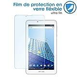 KARYLAX Protection d'écran Film en Verre Flexible Dureté 9H, 100% Transparent pour Tablette Archos Access 70 3G 7 Pouces