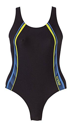 Beco Damen Badeanzug-Basics, 64522, mehrfarbig (Blau), Gr. 40