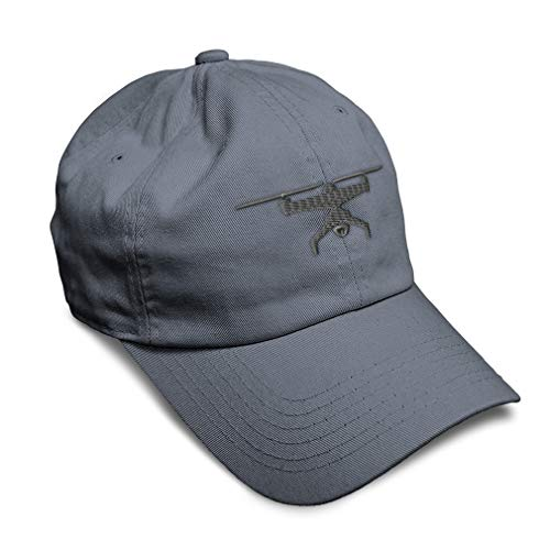 Speedy Pros Soft Baseball Cap Drone Picture A Embroidery Twill Cotton Dad Hats for Men & Women Buckle Closure Dark Grey Design Only