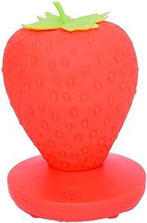 HETUI Décoration Originale de Chevet de lumière de Nuit de Fraise de Protection des Yeux de Silicone de LED (Rouge)