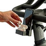 ATP Sports Metal Headphone + Phone Holder for Peloton Bike & Bike+ - Matching Accessories for Peloton - Aluminum Phone Mount