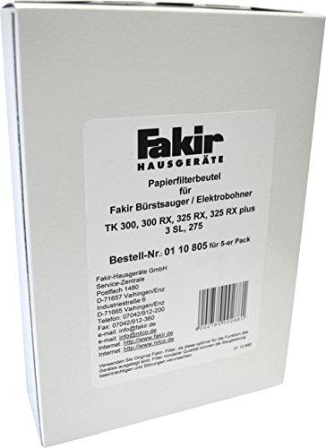 Fakir 0110805 Bohner 3 SL Papierfilter Pack A 5