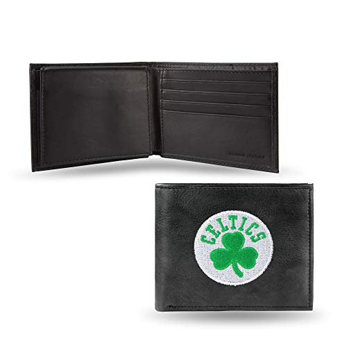 NBA Rico Industries Embroidered Leather Billfold Wallet, Boston Celtics
