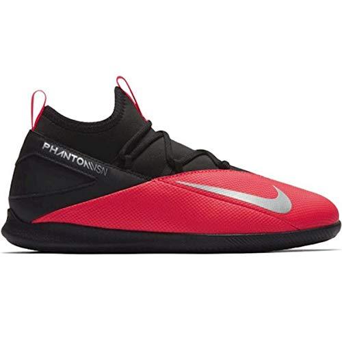 Nike Phantoversion 2 Club DF IC, Zapatillas de Futsal Unisex niños, Laser Crimson-Láser de Color Plateado, 28 EU