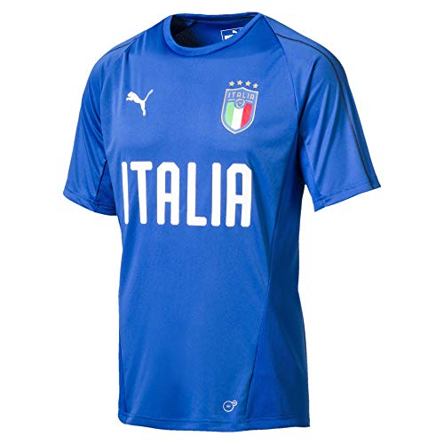 PUMA Herren FIGC Italia Training Jersey SS, Team Power Blue White, L