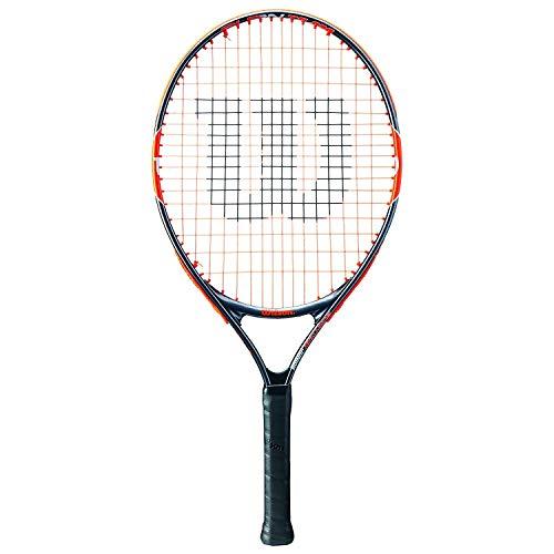 Wilson Burn Team, Racchetta da Tennis Unisex Bambini, Arancio/Grigio, 23