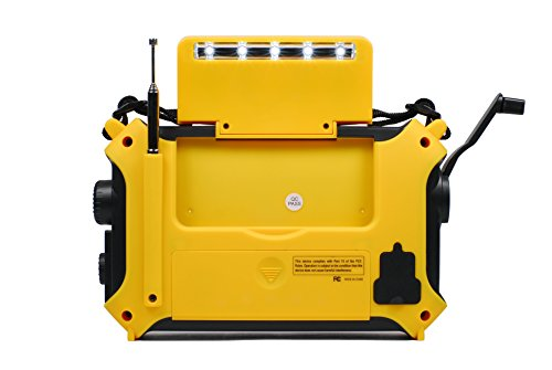 Product Image 6: Kaito KA500 5-way Powered Solar Power,Dynamo Crank, Wind Up Emergency AM/FM/SW/NOAA Weather Alert Radio with Flashlight,Reading Lamp and Cellphone Charger, Yellow