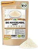 Bio Mandelmehl entölt 400g + 40g extra XL Bio-Pack│ Almound Flour organic │Entöltes Mandelmehl Nachhaltige geprüfte Bio Qualität│Hergestellt in Deutschland