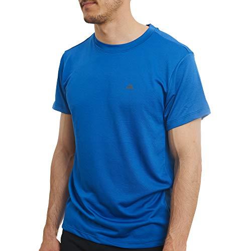 DANISH ENDURANCE Actief Heren T-shirt voor Sporten, Trainingen en Hardlopen, 1-Pak, Vochtafvoerend Crew T-shirt met Korte Mouwen van Gerecycled Materiaal