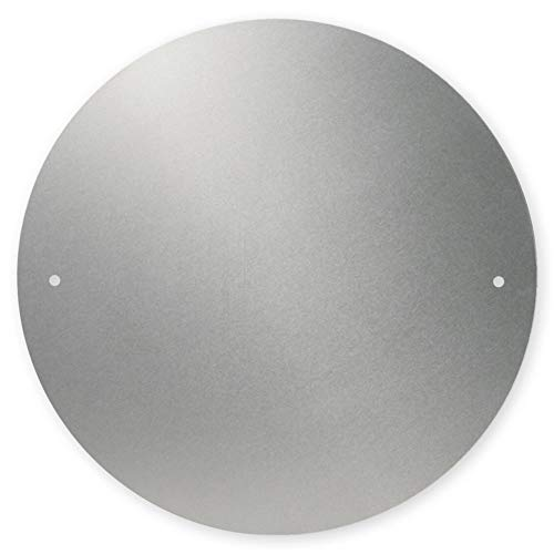 reflecto Geschwindigkeitsschild-Halterung aus Aluminiumverbund-Material – mit oder ohne Bohrungen – 200 mm Durchmesser – bruchsicher - passend für Deutschland, Italien, Frankreich (mit Bohrungen)