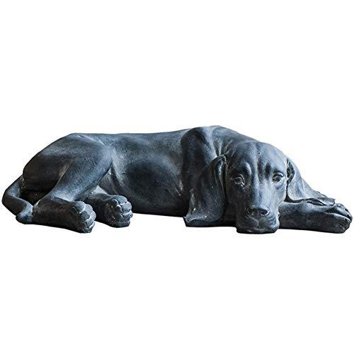 Retriever Dog Statue, Labrador Dog Sculpture Pet Sculpture Garden Dog Statue Lying Dog Decoration