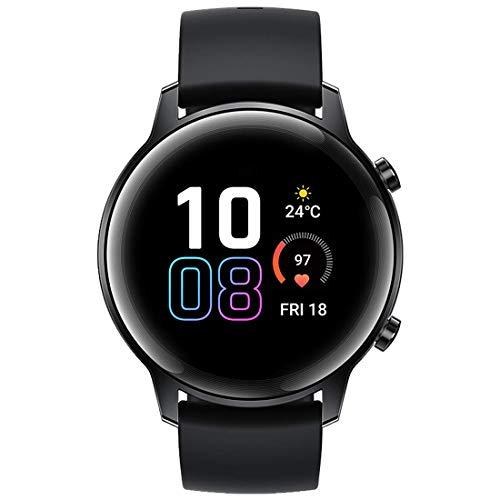 HONOR Magic Watch 2 Smartwatch Reloj Inteligente Hombre Mujer Fitness Tracker Monitor de Frecuencia Cardíaca Spo2 Estrés Smart Watch GPS Bluetooth 5ATM, 7 Días de Batería para Android, Negro 42MM