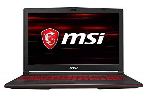 MSI Gaming GL63 9SD-1044IN Intel Core i7-9750H 15.6-inch Laptop (8GB/1TB HDD + 256GB NVMe SSD/Windows 10 Home/GTX 1660 Ti, 6GB Graphics/Black/2.22Kg) 9S7-16P732-1044