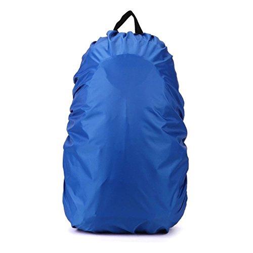 Ndier Cubierta de Lluvia,Funda Impermeable para Mochilas Escolares Bolsas para Equipaje Bolsas para Lluvia/Polvo Azul 35-40 L