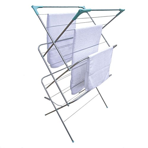 CLOTHES AIRER 3 TIER LAUNDRY DRYER CONCERTINA INDOOR OUTDOOR PATIO HORSE TOWEL