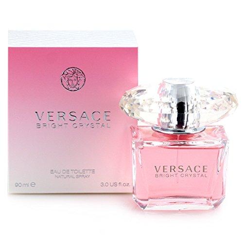 Versace Bright Crystal Eau De Toilette Spray for Women 3.0 Ounce, pink
