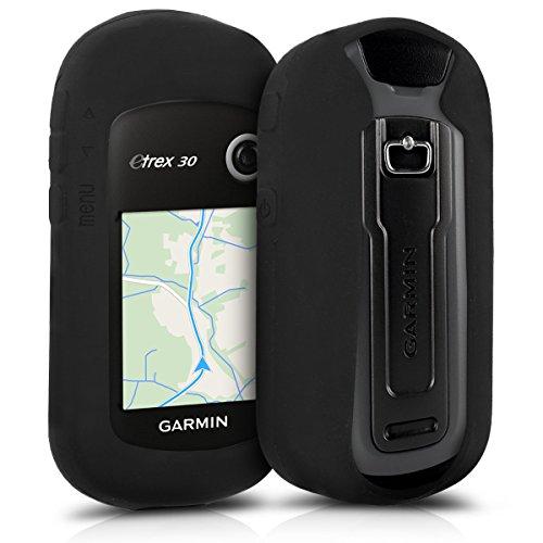 kwmobile Funda Compatible con Garmin eTrex 10/20/30/201x/209x/309x - Carcasa de Silicona para navegador GPS - Cover Negro