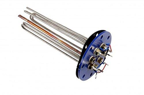 Flanschheizkörper Heizstab 4,5 kW, 3 x 1,5 kW, Flansch 180 mm.