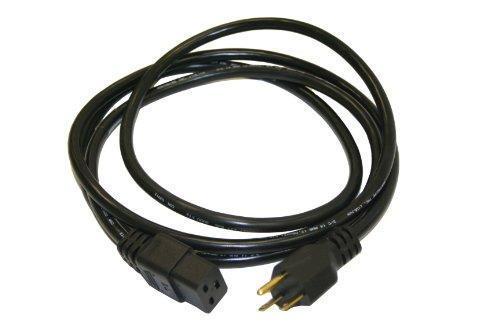 Interpower 86226060 North American NEMA 6-15 Cord Set, NEMA 6-15 Plug Type, IEC 60320 C19 Connector Type, Black Plug Color, Black Cable Color, 15A Amperage, 250VAC Voltage, 2.5m Length