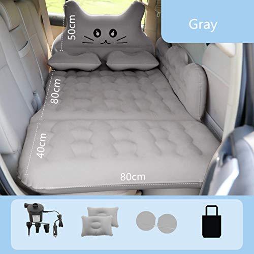 LTE 1 PCS Aufblasbares Bett Autozubehör in der hinteren Reihe der Schlafmatten Schlafmatratze Rücksitz Luftkissen Auto Reisebett, Grau