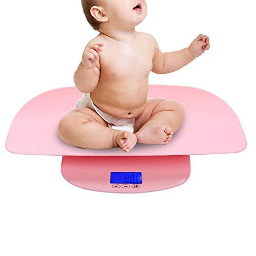 Bilancia pesapersone elettronica digitale in plastica, strumento di misura del neonato con precisione HD LCD per neonati, bilancia per il grasso corporeo delle famiglie(02)