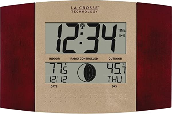 La Crosse Technology WS 8117U IT C 带温度和月相的数字挂钟