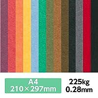 厚紙カラーペーパー『ケンラン(特色) 225Kg(=0.28mm)』 A4(210×297mm) 20枚【印刷・工作・名刺・カード・紙飛行機・ペーパークラフト】 ディープブラック