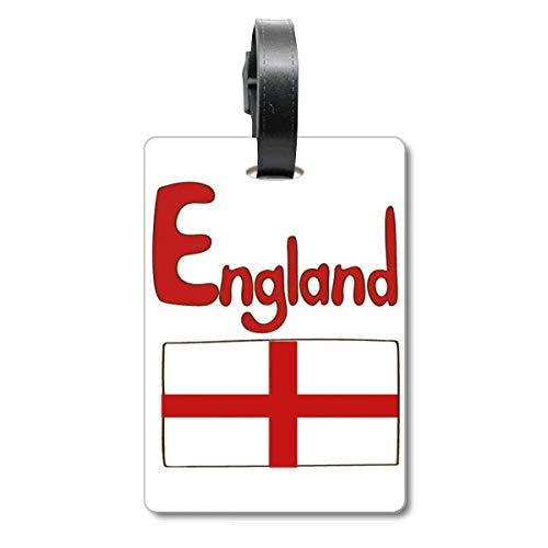 Etiqueta de identificación de la Bandera Nacional de Inglaterra para Maleta de Crucero, Color Rojo