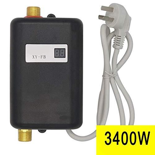 Mini-Elektro-Durchlauferhitzer 110 / 220V 3400W - Automatisches Ausschalten - Einfache Installation Waschbecken Schwarz für Küchenwaschbecken Badezimmer