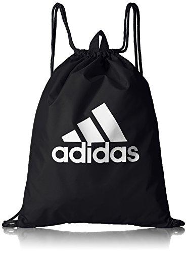 adidas Erwachsene Performance Logo Sportbeutel, schwarz (Black/Black/White), 37 x 47 cm