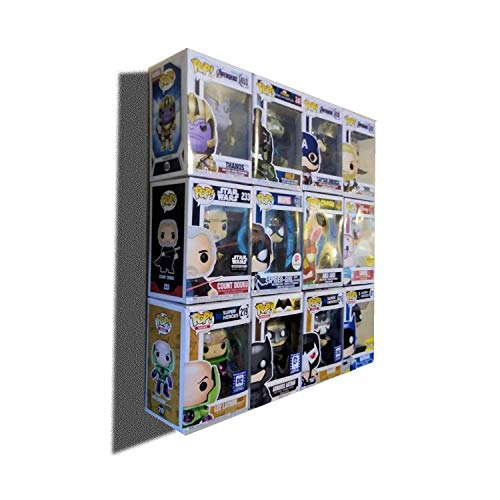 Wall Display Case for Boxed Funko Pop, Bordeless, Shelfless, No Assembly Required, just Hang on