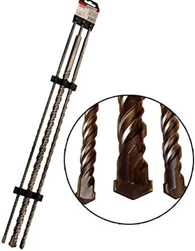 3-tlg. SDS-PLUS-Betonbohrer-Sets 1m 1000 mm lang Größen 12 16 24 mm Doppelspiralnut SDS Plus Bohrer Mauerbohrer SDS-Plus Bohrersatz