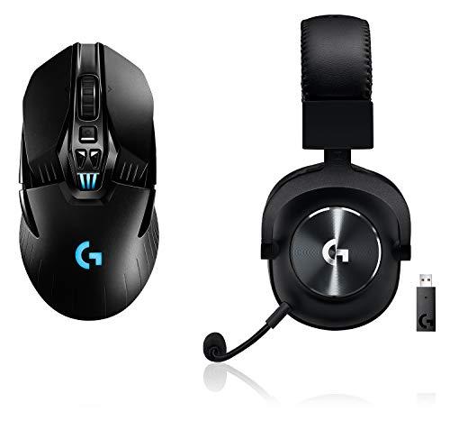 Logitech G903 Lightspeed kabellose Gaming Maus mit Hero 16000 DPI Sensor Logitech G PRO X Lightspeed Gaming Headset 2 Generation mit Blue VOCE
