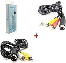 WiCareYo AV Câble Audio Vidéo Composite pour Sega Genesis 1 Système Maître Mega Drive & Câble AV Audio Vidéo 6 pieds 9 Bro...