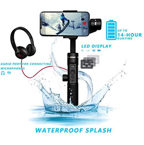 FeiyuTech SPG 2 3-Asse Gimbal Stabilizzatore per Smartphone iphone Xs X 8 7 Plus Samsung S9+ S9 S8 Gopro 7 6 A prova di spruzzi Trasmissione audio Bluetooth Dual Mode Display OLED 14H Runtime