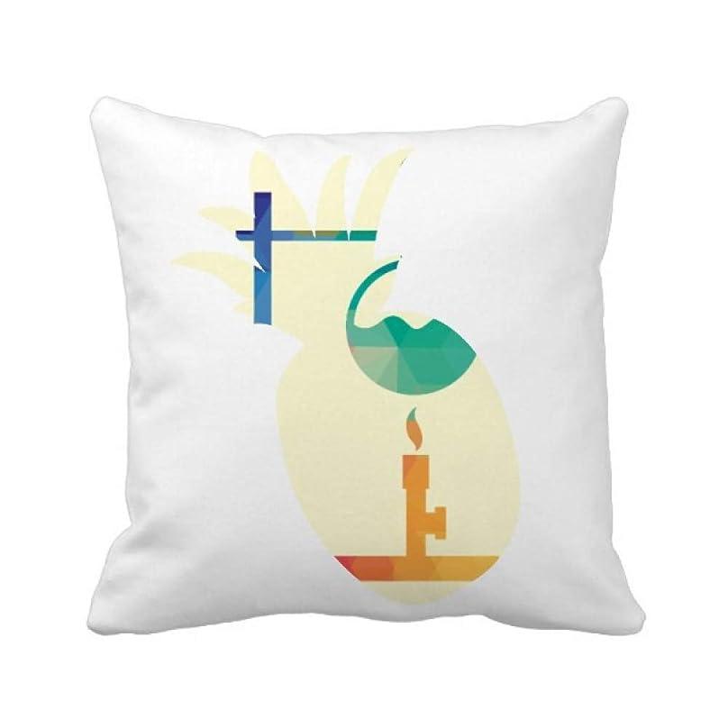 アルネお祝い効能加熱した丸低フラベビ化学 パイナップル枕カバー正方形を投げる 50cm x 50cm