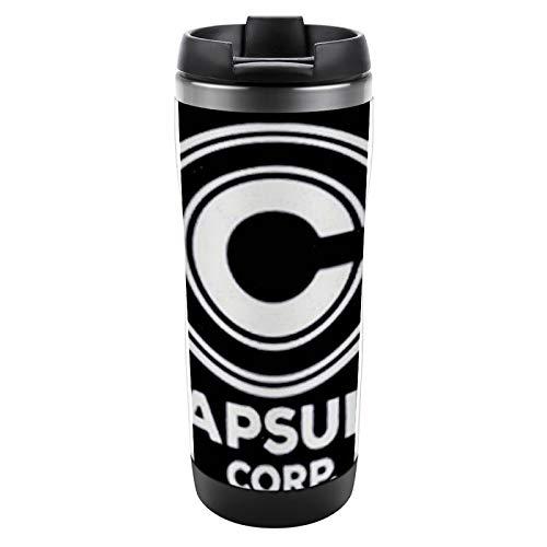 Taza aislada Taza de acero inoxidable con tapa Taza a prueba de fugas Capsule Corp Taza de café aislada