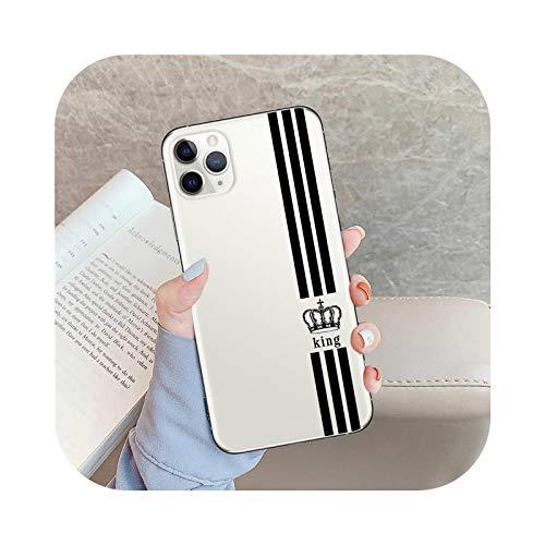 Carcasa para iPhone 7, diseño de Rey Enamorados de pareja para iPhone X XS Max X XR 11 Pro 7 8 6 6 S Plus 5S de silicona flexible -T8278-For iPhone 7Plus
