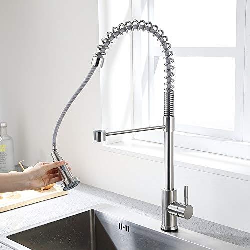 grifo de agua Grifo de cocina de acero inoxidable Control táctil Sensor inteligente Mezclador de cocina Grifo táctil para cocina Grifo de fregadero abatible 1055