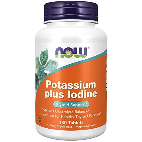 NOW Foods Potassium Plus Iodine, 180 Tablets