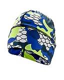 SLS3 Running Beanie per Uomini e Donne | Super Soft + Wicking di umidità | Cappello da Corsa Invernale, Berretto da Passeggio (Blue Camouflage)