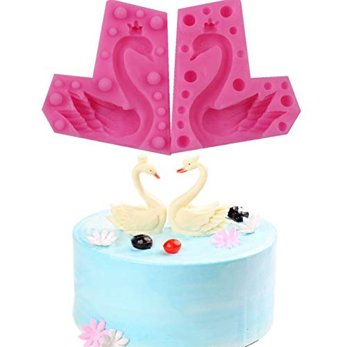 Laxtto 3D Silikon tragen Krone Schwan Fondant Kuchen Silikonform Schokoladenform DIY Kuchen Backen Dekoration Werkzeug