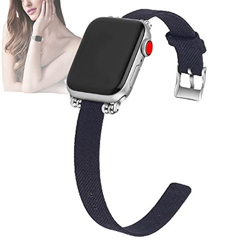 HHORB Correa tejida compatible con iWatch Series SE 6 5 4 3 2 1, correa de repuesto de tela de nailon transpirable, correa de repuesto para Apple Watch de 38 mm, 42 mm, 40 mm, 44 mm, 7,42/44 mm