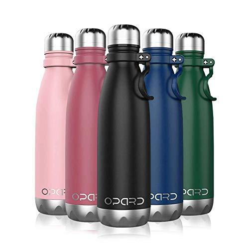 Trinkflasche Edelstahl 730ml Thermosflasche Vakuumisolierte Doppelwandige . -für Laufen, wasserflasche Fitness, Yoga, Water Bottle Im Freien und Camping,Spülmaschine und kohlensäure geeinet, Schwarz