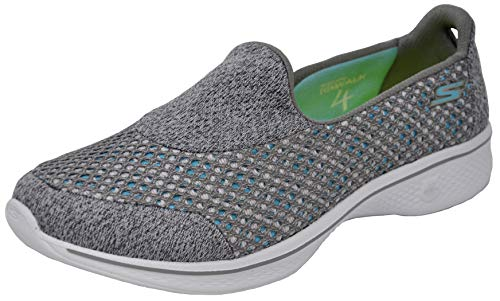 Skechers Performance Women's Go Walk 4 Kindle Slip-On Walking Shoe, Grey, 8.5 W US