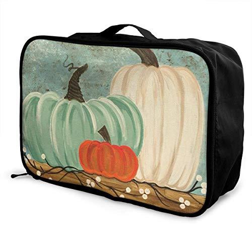 Moda casual pieghevole leggero di grande capacità portatile Lage Bag Impermeabile Borsone da viaggio Borsa per il trasporto Tote Bag Geen Rosso Bianco Zucca